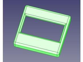 """Displaytraeger und Rahmen für 1,3"""" OLED Module"""