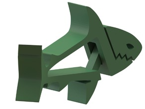 BENT TAIL SHARK ... Fun Multipurpose Clips / Holders / Pegs