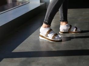 """Massage"" Walking Sandal Soles"