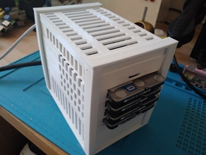 1-to-4 HDD Stackable Raspberry NAS with PSU v3