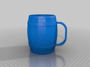 Large barrel/cask shaped mug - 32oz (almost 1 liter) capacity