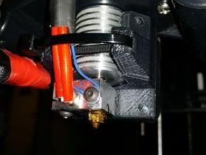 Low profile E3D V6 40mm fan shroud with zip tie lock