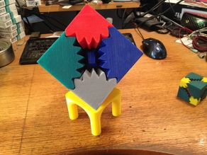 Three Cube Gears Stand