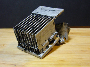 Aluminum heat sink cast in ABS mold