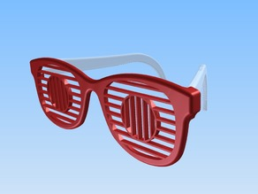 Shutter sunglasses (circle)