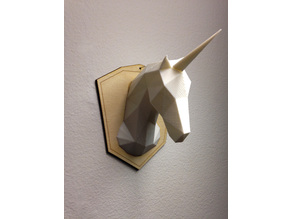 Unicorn Head - Low Poly with optional mount