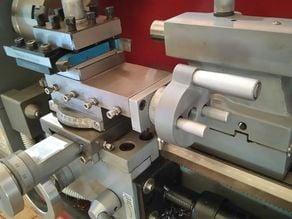 Small lathe improvements: removable tool post slide handwheel