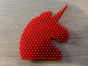 Perler (Hama) Bead Unicorn Pegboard