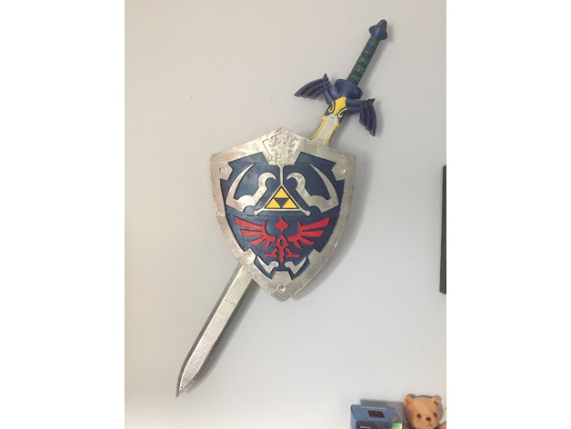 Wall Hanger For Master Sword And Hylian Shield By Wheatlyinc