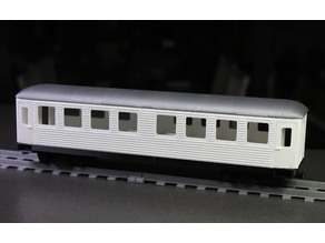 Passenger car for OS-Railway - Fully 3D-printable railway system
