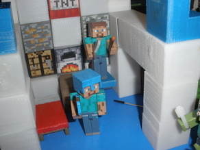 Minecraft Helmets for Minecraft Toys and Papercraft.
