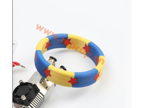 HE3D triple extruder (3in1out)  3 color bracelet
