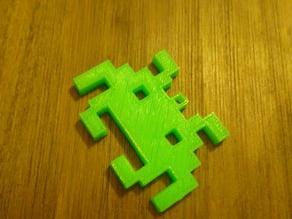 Invader of Space keyring.