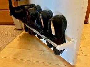"""1/2"""" EMT pipe closet door shoe rack brackets"""
