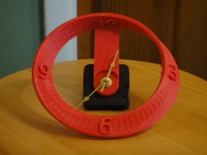 Mobius Strip Clock for wall or desk