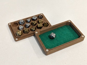 "Dice Box and Tray for 14 ""mini"" Dice"