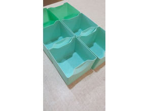 Box organisers for vase mode (spiralize outer contour in Cura)
