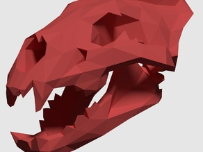 Low Poly Lion Skull