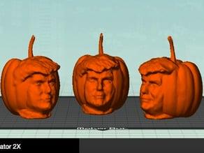 Pumpkin Trumpkin Halloween Scary