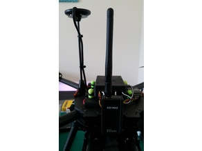 Telemetry module mount for Tarot 650 Ironman