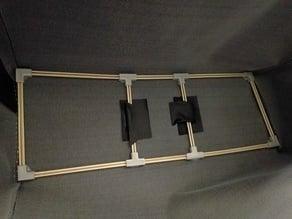 Shashlik skewer frame fixtures