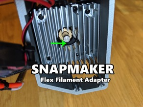 Snapmaker flexible filament adapter