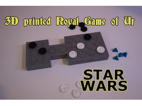 3D printed Royal Game of Ur STAR WARS Theme