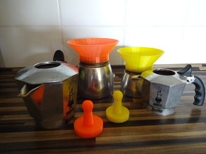 Parametric Mokka Pot Funnel & Tamper