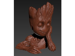 Baby Groot Pot, single object re-remix