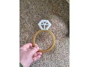 Jumbo Wedding Ring Prop