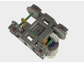 Motorized bogie for OS-Railway - fully 3D-printable railway system