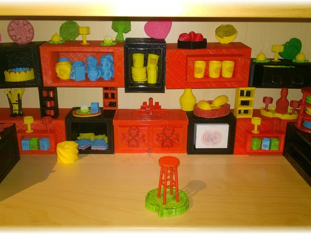 3d printed kitchen project by heartphone thingiverse rh thingiverse com