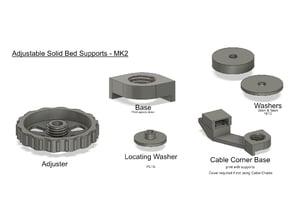 Ender 3 - Adjustable Solid Bed Supports