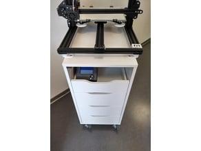 Cr-10 Ikea Alex Mobile 3D Printer Workstation