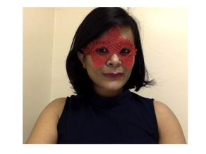 3D Printed Masquerade Mask for Women