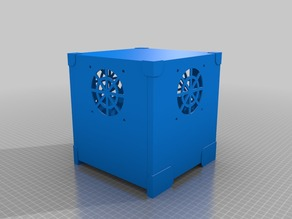 Case (Enclosure) 18x18x18cm with fan holes and openable bottom