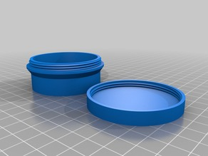 My Customized round box with threaded lid 50x25