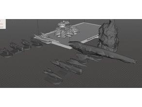 ROBOTECH Inherit the Stars RRT Meltrandi Inter-Colony War Illegal Fleet Strategy GAME PIECES set2