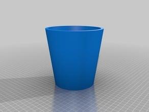 Rectilinear flowerpot 14x14x12 cm