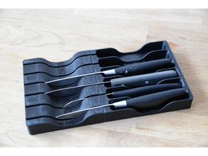Knife Block/Holder for the kitchen drawer