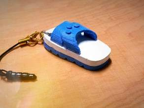 Blue White slipper Headphone Dust plug藍白拖 紅白拖