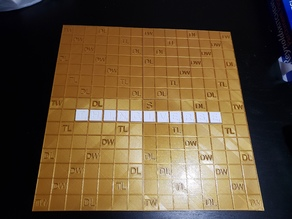 Scrabble Pieces and Board