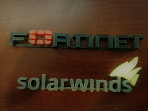 Tech Logos Fortinet, Solarwinds, Vyos, Windows