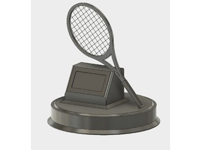 Tennis trophy With interchangeable plates
