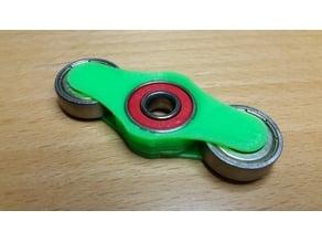 Open wheel three bearing fidget spinner
