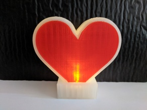 LED Heart Dual and Single Extruder