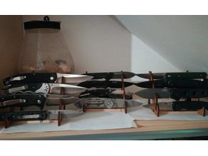 4 Knife display stand, DXF and STP