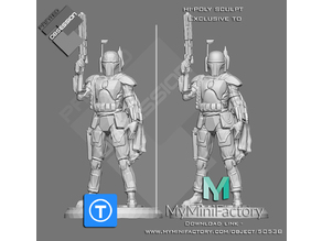 Star Wars - Boba Fett - Full Character - Low Poly - Hi-Poly in Description
