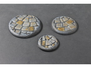 OpenForge Miniature Bases: Cobble (Round, Rounded)