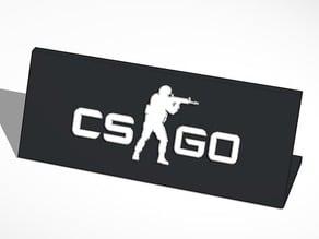 CS GO Desk Sign